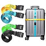 Viaggio Cinghie Bagagli Imballaggio Cintura Valigia Cinghie Regolabile Sicurezza 4-Pack