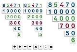Zahlenkarten 1 - 99.999, 3er Satz Zahlentafeln, Montessori Material Mathematik