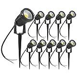 Lot de 10 Spot LED Cob 5W 220V Spots Jardin Orientables avec Piquet Luminaires Extérieur Jardin Terrasse...