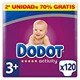Dodot Activity Pañales Talla 3+, 120 Pañales - 7 kg - 11 kg