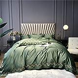 RHXX Hohe Dichte Material Aus Baumwolle Bettbezug Set Plus 2 Kissenbezüge & 1 Blatt Hypoallergen 4 Stück Satin Bettwäsche Für Die Ganze Saison,220 * 240cm