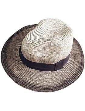 Leisial Sombrero de Playa con Paja Sombrero al Aire Libre del Sol de Gorro Protección Solar Degradado de Color...