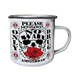 Bitte Gentleman Only Drugs War Retro, Zinn, Emaille 10oz/280ml Becher Tasse aa401e