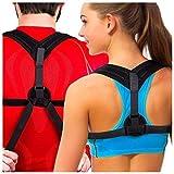 Premium Adjustable Upper Back Brace Posture Corrector and Clavicle Support Brace for Men