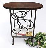 DanDiBo Porte-revues HX12989 en métal et Holz 65cm Desserte Table