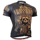 Fixgear Herren Skull Cycling Radtrikot Herren Brown Top Brown