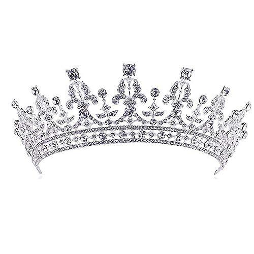 bismarckber Glänzende Strass Krone Frauen Prinzessin Queen Brautschmuck Diadem Hochzeit Ball Haarschmuck