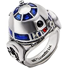 Star Wars R2-D2 Anillo Plateado