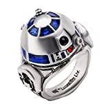 Star Wars, Base Metal R2-D2 3D Ring, Size 11