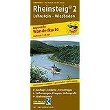 Rheinsteig® 2, Lahnstein - Wiesbaden: Leporello Wanderkarte mit Ausflugszielen, Einkehr- & Freizeittipps, Straßennamen, wetterfest, reissfest, abwischbar, GPS-genau. 1:25000