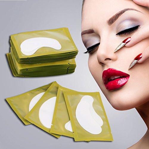 50 Stücke Papier Patches Wimpern unter Augenpads Wimpern Wimpern Papier Tipps