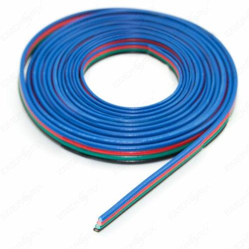 LED RGB Kabel 4-adrig Verlängerungskabel Anschlusskabel 1m - 1-led-kabel