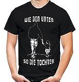 Wie der Vater so die Tochter Männer und Herren T-Shirt   Freundschaft Papa Kind Vatertag Familie (Schwarz, XXXL)