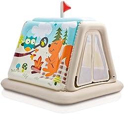 Intex 48634, Casetta Gonfiabile Campeggio, 127 x 112 x 116 cm, Multicolore