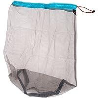 broadroot al aire libre Ultraligero bolsa de malla bolsa de almacenamiento para viajar Camping senderismo portátil equipaje ropa bolsas, Sky Blue XL