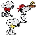 "3 tlg. Set: Bügelbilder - "" Snoopy /..."