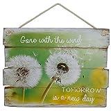 Wandbild Tomorrow is a new day Holzschild Schild Bild Dekoschild Spruch Vintage Wandschild MDF 30x40 cm