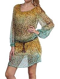 Replay Damen Kleid Sommerkleid , Farbe: Gelb