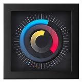 Design-Uhr - die etwas andere Uhr - Modell SONAR - 24 x 24 cm - jede Uhr ist ein Unikat und handgefertigt
