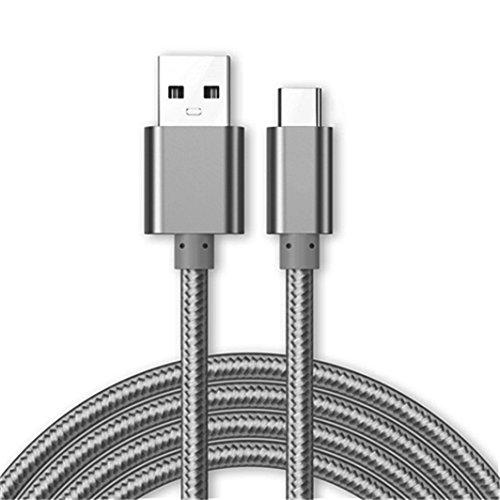 Câble Micro USB [USB 3.0] Chargeur pour Samsung Galaxy Xcover 4, [1M] 1 Mètre [3.1A Rapide Haute Vitesse] Nylon Tressé De Supérieure [Transfert De Données Jusqu'à 5 GB/s] - Gris