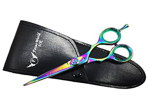 FW®-14cm Professional Barber Multicolor Titanium Razor Edge Haar Schneiden Scheren/Schere