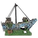 Fish Tank Ornamento del - TOOGOO(R) Barco de Pesca del Ornamento del Acuario Decoracion Para Fish Tank, Dcoracion de Tanque de Pez