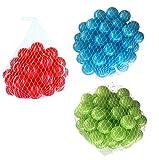 300 Bälle für Bällebad gemischt mix mit türkis, hellgrün und rot