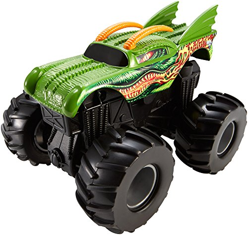 Hot Wheels Monster Jam Rev Tredz Monster-Truck mit Rückzugmotor (Dragon) (Hot Wheels Dekorationen)