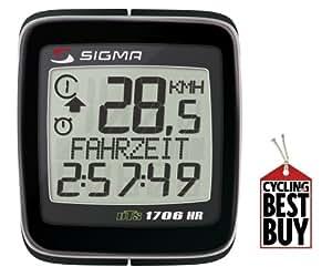 Sigma Bike Computer Topline BC1706 HR-DTS avec cardiofréquencemètre