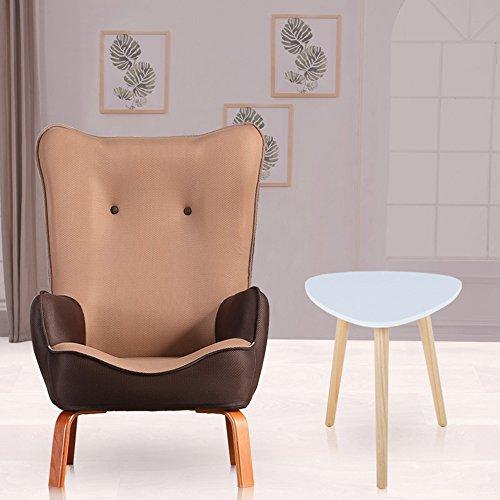 DEO Bureau d'ordinateur Enfants enfants avec chaise en tissu fauteuil canapé siège tabouret durable (Couleur : Café couleur, taille : Chair and table)