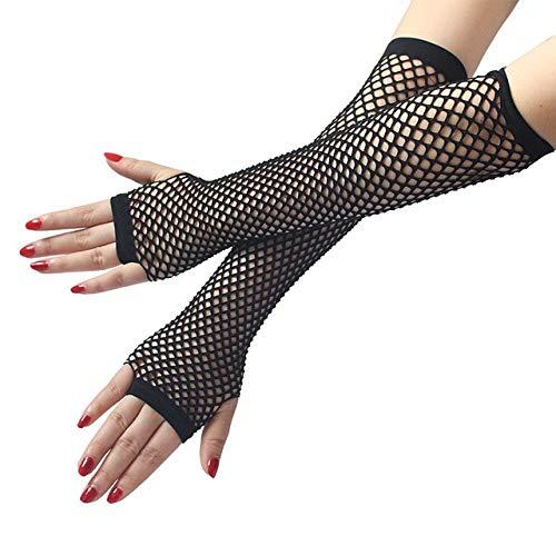 Gewichtheber Kostüm Vintage - KBWL Fischnetz Handschuhe Frauen Sexy Disco Dance Kostüm Fingerlose Handschuhe Frauen Lange Handschuhe Sommer Heißer