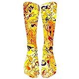 Yvelands Socken Strumpfhosen Strümpfe Bunte Krawatten Kompressionssocken-Fußball hohe Socken Ange Socken(One Size,F2)