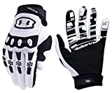 Seibertron Youth Dirtpaw Rutschfeste Bike Bicycle Cycling/Radsport Racing Mountainbike Handschuhe für BMX MX ATV MTB Motorcycle Motocross Motorbike Road Off-Road Race Touch Screen Gloves Weiß M