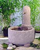 Graz I aus Werksandstein inkl. Pumpe Gartenbrunnen Wasserspiel Steinbrunnen Felsbrunnen