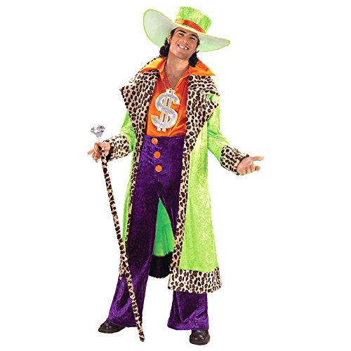 Forum Novelties–cs959473–Kostüm Big Daddy Pimp–Einheitsgröße (Lila Halloween Kostüm Pimp)