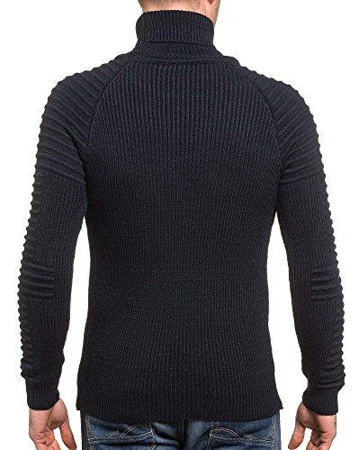 BLZ jeans - Pullover homme navy col roulé Bleu