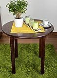 Tisch Kiefer massiv Vollholz Nussfarben 003 (rund) - Durchmesser 80 cm
