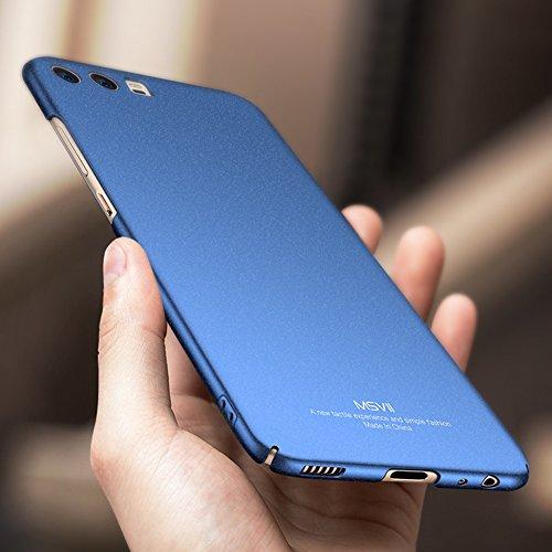Huawei P10 Plus 5,5 Zoll Hülle, MSVII® PC Kunststoff Härte Hülle Schutzhülle Case Und Displayschutzfolie für Huawei P10 Plus 5,5 Zoll - Gold JY30040 Blau