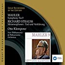 Mahler: Symphony No.9 & Richard Strauss: Metamorphosen -Tod und Verklärung