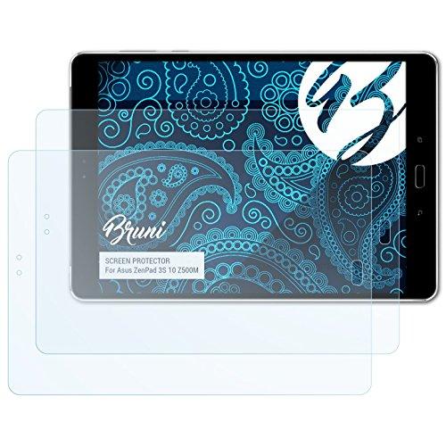 Bruni Schutzfolie für Asus ZenPad 3S 10 Z500M Folie, glasklare Bildschirmschutzfolie (2X)