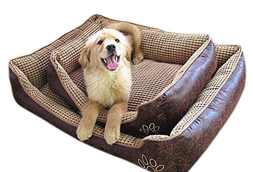 VLUNT Cama para Mascota Grandes Desenfundable Cama de Perro Tela Impermeable Cama para Mascota