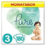 Pampers Pure Protection Windeln, Größe 3, 180 Windeln, 6-10 kg, Monatsbox