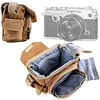 DURAGADGET Bolso / Canvas Para Cámara Olympus Pen E-PL8   Olympus Stylus SH-1   Polaroid IE090 - Marrón
