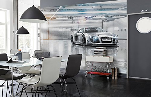 Komar 8–957368x 254cm 'Audi R8Le Mans Sports Auto' Tapete Wandbild–Grau (8Stück)