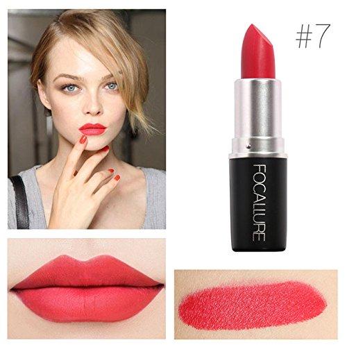 Zokra - Pro Matte Lipstick BeautšŠ maquillage pour les femmes rose Lššvres bšŠbšŠ Matt Baume Waterproof Batom dames cadeau cosmšŠtiques [7]