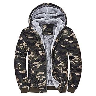 c583c16e9ebd MEIbax Herren Camouflage Hoodie Winter warme Fleece Zipper Sweatshirts  Jacke Outwear Mantel Coats Kapuzenjacke