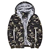 MRULIC Herren Hoodie Pullover Winter Warme Fleece Jacke Zipper Sweater Jacke Outwear Mantel RH-054