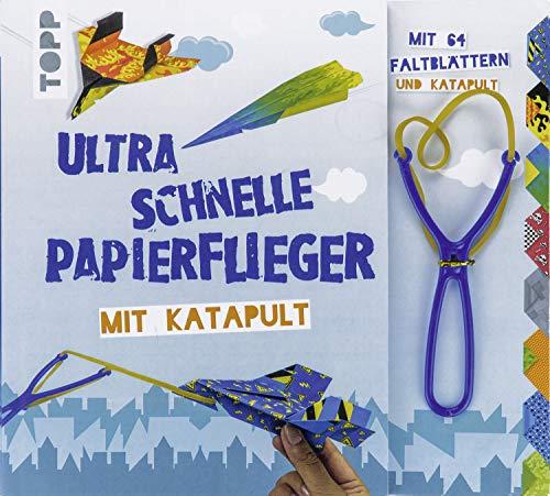 Ultra schnelle Papierflieger mit Katapult: Anleitungen, Faltblätter und Katapult für die schnellsten Papierflieger aller Zeiten