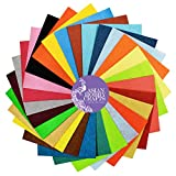 #3: Asian Hobby Crafts Felt Sheets, 110x110mm (25 Colours) - Pack of 25