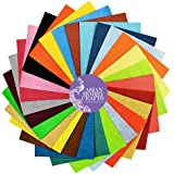 Asian Hobby Crafts Felt Sheets, 110x110mm (25 Colours) - Pack of 25